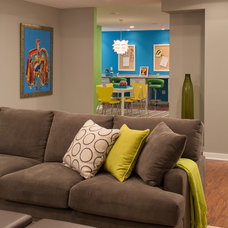 Contemporary Family Room by Grande Interiors