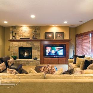 Basement TV & Fireplace