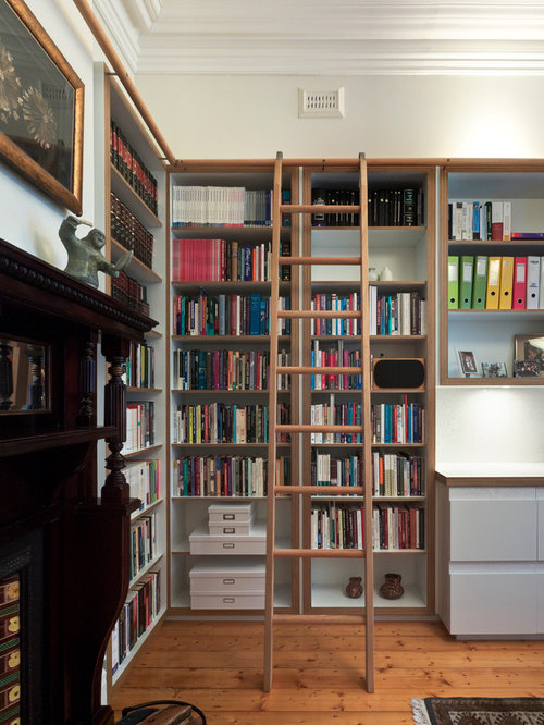 Peachy Bookcase With Ladder Ideas Pictures Remodel And Decor Largest Home Design Picture Inspirations Pitcheantrous