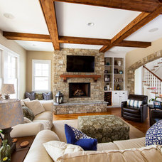 Traditional Family Room by Zar Custom Homes, Inc