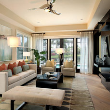 Contemporary Family Room by Design West