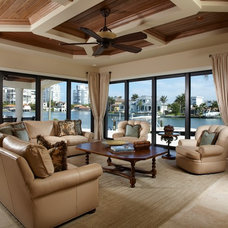 mediterranean family room by The Lykos Group, Inc.