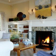 Beach Style Family Room by Nancy McLaughlin Interiors