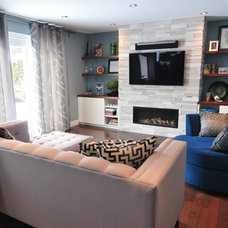 Contemporary Family Room by Koffeetree Art & Design