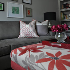 Eclectic Family Room by Meredith Heron Design
