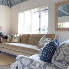 Beach Style Family Room by Charmean Neithart Interiors, LLC.
