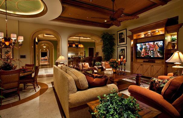 Mediterranean Family Room by Kurtz Homes Naples