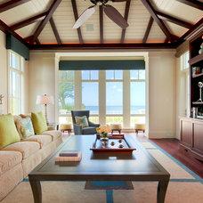 Tropical Family Room by Kurtz Homes Naples