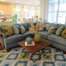 Beach Style Family Room by Design Zeal