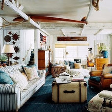Eclectic Family Room by Go Nautical Collections