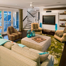 Contemporary Family Room by Bruce Palmer Coastal Design