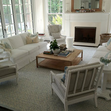 Beach Style Family Room by NLD Design - Architecture & Interiors