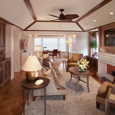Beach Style Family Room by Bruce Palmer Interior Design
