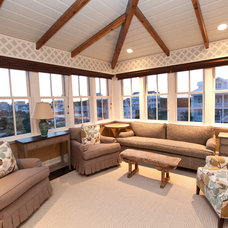 Beach Style Family Room by Andrew Roby General Contractors
