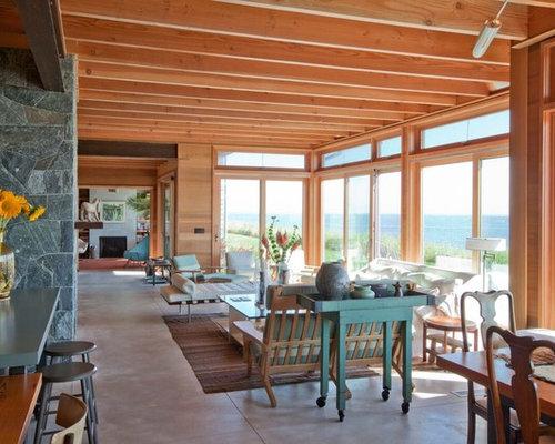 maritime wohnzimmer mit betonboden ideen design bilder houzz. Black Bedroom Furniture Sets. Home Design Ideas
