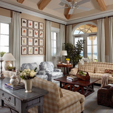 Beach Style Family Room by Jill Shevlin Design