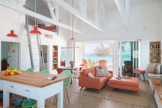 Maritim Wohnzimmer Beach Style Family Room