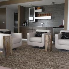 Beach Style Family Room by Coastline Interior Consultant, LLC