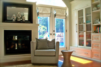 Transitional Family Room by GHStyleworks