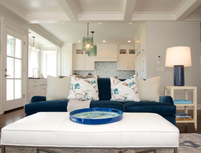 Transitional Family Room by kellydesigns