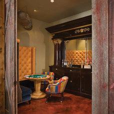 Transitional Family Room by Abby Hetherington Interiors