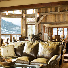 eclectic family room by Montana Reclaimed Lumber Co.