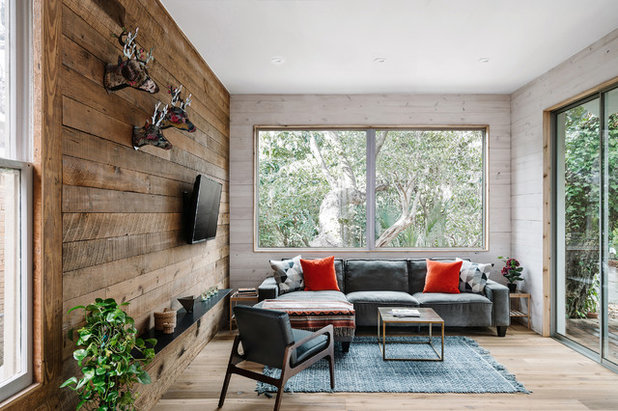 Rustic Family Room by Low Design Office
