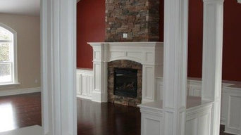 Beautiful Built in Storage and Mantle