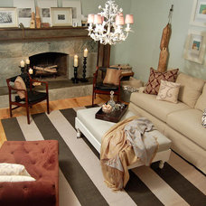 Eclectic Family Room by LTB Interiors