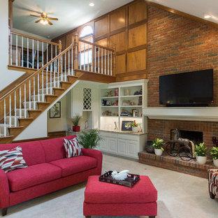Idee per un grande soggiorno minimalista aperto