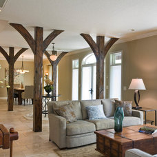 Traditional Family Room by Parker & Associates Architects