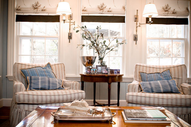 Shabby-chic Style Family Room by LKM Design
