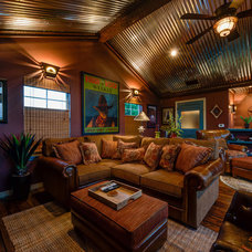 Southwestern Family Room by Agave Custom Homes