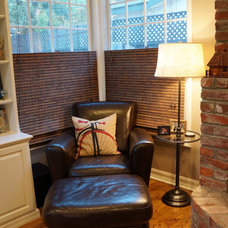 Transitional Family Room [Before & After] L.A. Family Home
