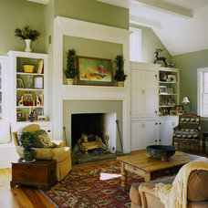 Traditional Family Room by Peter Zimmerman Architects