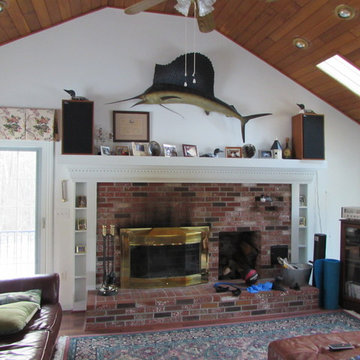 Before photos of Bedford, NH Family room re-design