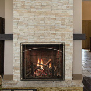 Beige Textured Fireplace - American Hearth