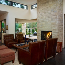 Contemporary Family Room by Nest Architectural Design, Inc.