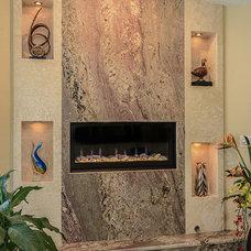 Contemporary Family Room by Van Selow Design Build L.L.C.