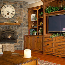 Traditional Family Room by Provanti Designs, Inc