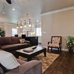 contemporary family room by New Leaf Construction