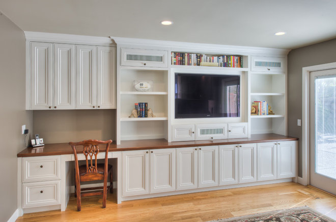Traditional Family Room by Podesta Construction
