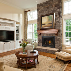 Traditional Family Room by Randall Perry Photography