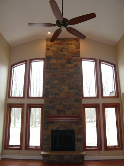 Traditional Family Room by Bennett Builders