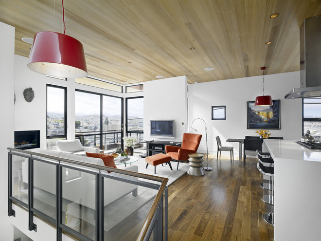 Contemporary Family Room by Bruce Wright