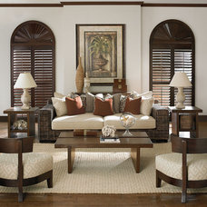 Eclectic Family Room by Barbara Schaver @ Furnitureland South
