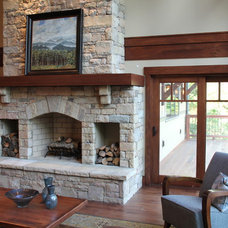 Traditional Family Room by Living Stone Construction, Inc.
