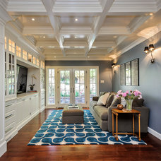 Traditional Family Room by Dennis Mayer, Photographer