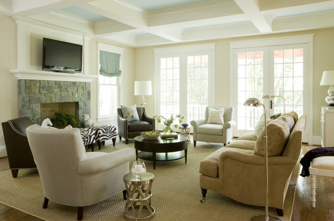 Contemporary Family Room by Liz Levin Interiors
