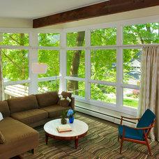 Contemporary Family Room by Balodemas Architects